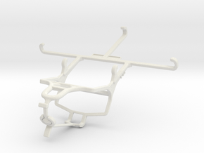 Controller mount for PS4 & Yezz Monte Carlo 55 LTE in White Natural Versatile Plastic