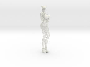 Sexy Wireframe Woman Lowpoly 35cm in White Natural Versatile Plastic: Large