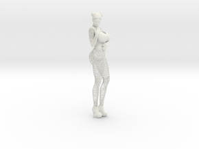 Sexy Wireframe Woman Hipoly 30cm in White Strong & Flexible: Medium