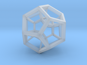 4D Dodecahedron in Smooth Fine Detail Plastic