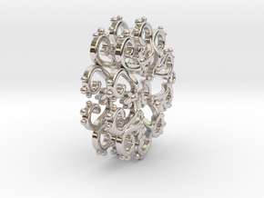 Filigree Star Earrings in Rhodium Plated Brass