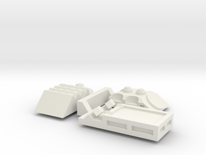 M577 Turret Variants in White Natural Versatile Plastic