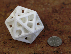 Icosahedron in White Strong & Flexible Polished: Medium