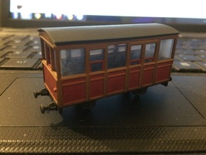 009 Talyllyn Railway WC Carriage no7 (Ex-Penrhyn) in Smooth Fine Detail Plastic