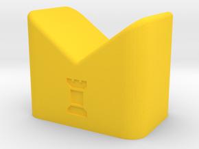 MILOSAURUS Chess Shatranj Rook (rokh) in Yellow Processed Versatile Plastic