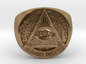 Novus Ordo Seclorum in Natural Brass