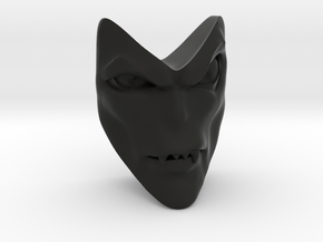 D&D Venger Closed Mouth Face in Black Natural Versatile Plastic
