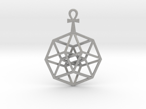 TesserAnkh Pend Small in Aluminum