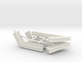 MOF Roof Edge -  Corners(4) 72:1 Scale in White Natural Versatile Plastic
