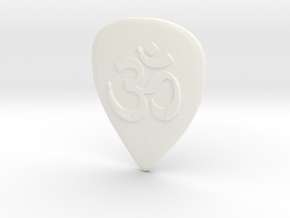 Ohm Guitar Pick in White Processed Versatile Plastic