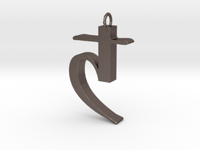 Saturn's sickle in Polished Bronzed Silver Steel