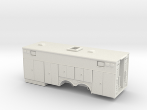 1/87 Heavy Rescue body non-rollup doors  in White Natural Versatile Plastic