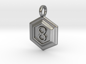 The 100: City of Light Pendant. in Natural Silver