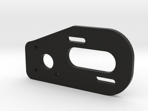 V1 TLR 22 2.0 3 Gear Laydown Motor Plate in Black Natural Versatile Plastic