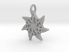 Seven-Pointed Snowflake in Raw Aluminum