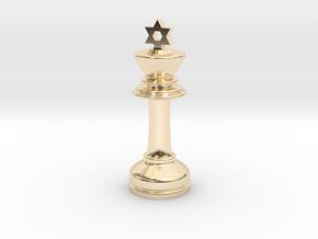 MILOSAURUS Chess MINI Star of David King in 14k Gold Plated Brass