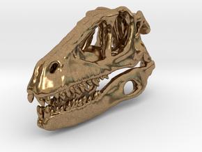 Dinosaur Skull 30mm pendant in Natural Brass