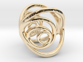 Aurea_Ring_2 in 14k Gold Plated Brass: 11 / 64