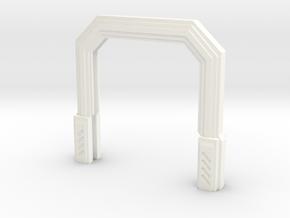 Imperial Assault Door Stand in White Processed Versatile Plastic