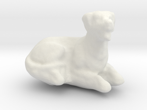 Printle Thing Dog 02 - 1/24 in White Natural Versatile Plastic