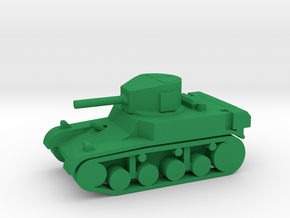 1/144 Scale Stuart M3A1 Light Tank in Green Strong & Flexible Polished