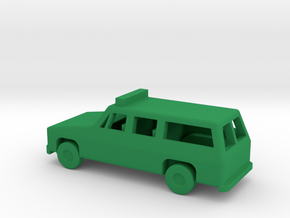1/144 Scale Suburban With Lights in Green Strong & Flexible Polished