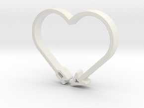 Love Arrow - Amour Collection in White Natural Versatile Plastic