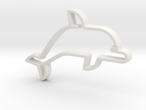 Dolphin V1 Pendant in White Natural Versatile Plastic