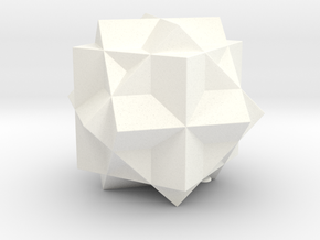 THREE CUBE COMPOUND in White Processed Versatile Plastic