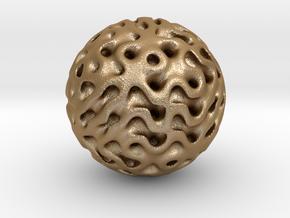 0614 IsoSurface F(x,y,z)=0 Diamond Ball (d=5cm) #3 in Matte Gold Steel