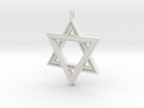 Star Of David #2 in White Natural Versatile Plastic