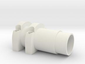 Front Hydro Ram 1.5 in White Natural Versatile Plastic