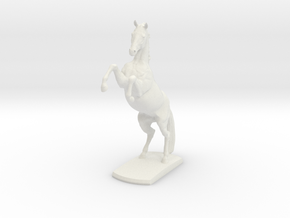 Horse Rearing in White Natural Versatile Plastic