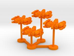 Colour Free Republic Strike Torpedo Bomber Wing in Orange Processed Versatile Plastic