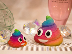 Rainbow Poop (Large) in Full Color Sandstone