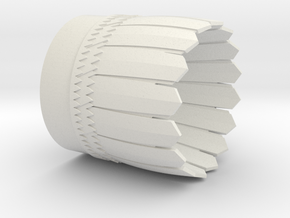 Interceptor Nozzle 24mm in White Natural Versatile Plastic