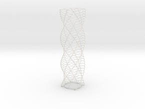 Curved Wire Spiral Square Shape L in White Natural Versatile Plastic