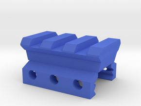 Nerf Rival to Picatinny Adapter (3 Slots) in Blue Strong & Flexible Polished