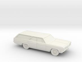 1/64 1966 Chevrolet Impala Station Wagon in White Natural Versatile Plastic