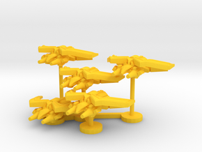 Colour Royal Falcons Heavy Interceptor Wing in Yellow Processed Versatile Plastic