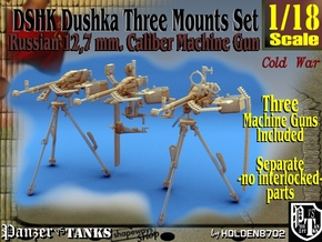 1-18 DSHK Dushka Set Of 3 in Smooth Fine Detail Plastic