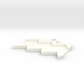Aquarius Pendant in White Processed Versatile Plastic