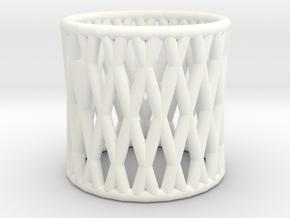 Napkin Ring in White Processed Versatile Plastic