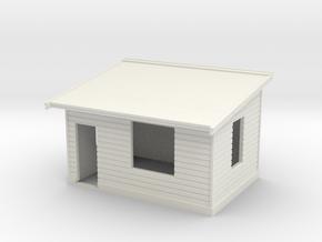 7mm Std Platform Level Signal Box - LH Door in White Natural Versatile Plastic