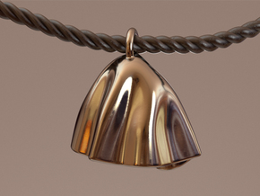 Hanging Pendant in Fine Detail Polished Silver