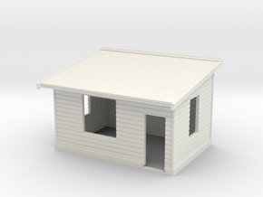 7mm Std Platform Level Signal Box - RH Door in White Natural Versatile Plastic