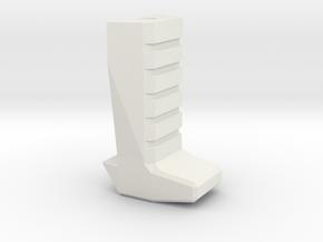 Gladius V1 Grip (part 3 of 5) in White Natural Versatile Plastic