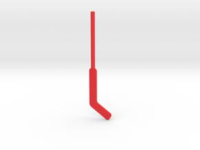 Hockey Goalie Stick for ModiBot in Red Processed Versatile Plastic