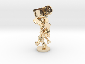 Bitcoin Legend Statue in 14k Gold Plated Brass: Extra Small