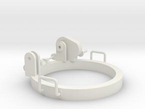 AA Mount for DShK machine Gun part A Scale 1:12 in White Natural Versatile Plastic